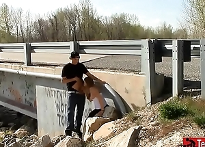Quickie Sex by a Bridge adjacent to Traffic