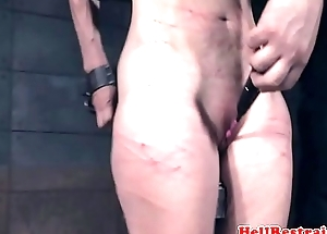 Whipped Paintoy Emma spanked as attachment torment