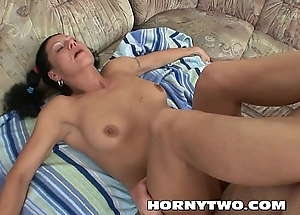 Latina chubby Milf giving head to younger man fucking their way badly