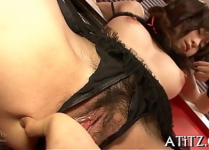 Breasty japanese'_s wanton toying