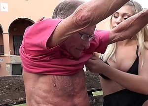 Blonde hot exasperation anal fucked off out of one's mind horny grandpa