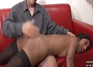Doff expel couch amateur french couple just about a skinny young brunette analyzed