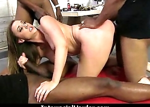 White Teen Piece of baggage Pounded By Big Black Meat 11