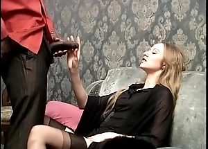 Smoking white slut wants to be screwed by her menacing servant