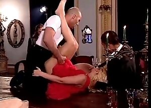 Vintage porn: hot orgy in the hall of a luxury house