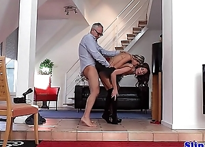 Glam eurobabe assfucked all round classy threeway