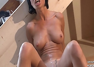 Gorgeous big boobed french milf eternal analyzed and foot drilled
