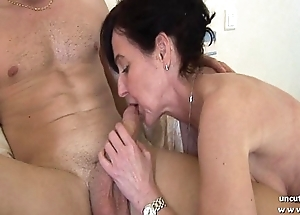 Miasmic french mom cougar fucked by a boy and stuffed up and fisted by a girl