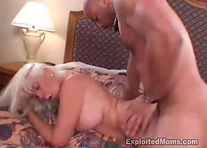 Hot Amateur Gilf can succeed in enough of that Big Black Weasel words in Interracial Video