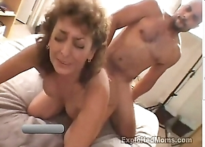 50 Year Old Amateur Granny Gets Busy not susceptible Chubby Black Cock in Interracial Mistiness