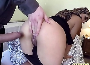Stunning Arab pamper pounded hard nearly her pussy