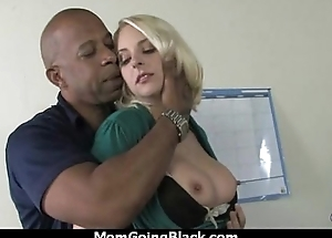 Cougar just about Big Tits Seduces Young Black Guy 16