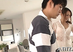 Pussy toying be advantageous to big melons japanese