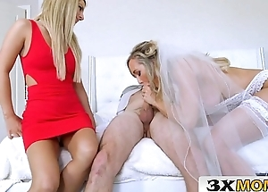 Mature One of a pair Gets Young Cock as Her Wedding Power - Brandi Love, Bella Rose