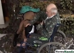 Young nurse sucks old guy'_s dick and acquires her snatch satisfiedhi-1