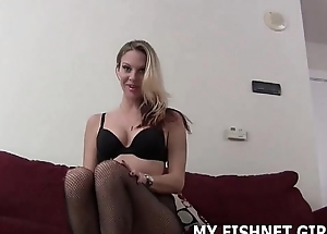 I patois wait to tease your cock in my new fishnets JOI