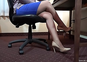 Chyna Morose Pantyhose Shoeplay