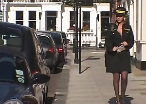 British Traffic Warden Gets A Fat Cock Up Her Arse