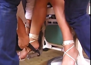 Hot hew unsubtle tied up and abused